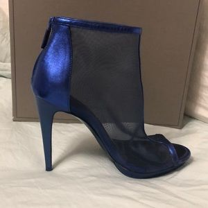 BCBG Maxazria electric blue booties